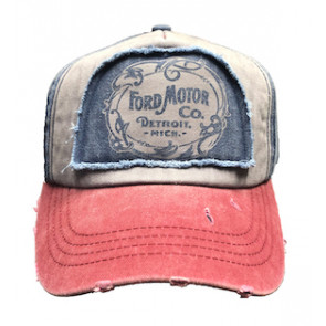 Navy Distressed Ford's Motor Company Vintage Trucker Hat