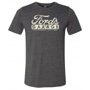 Mens Garage Poly/Cotton Crew - Charcoal