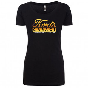 Ladies Gold Garage Triblend Scoop Tee